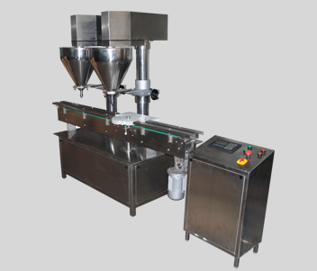Double Head Automatic Powder Filling Machine